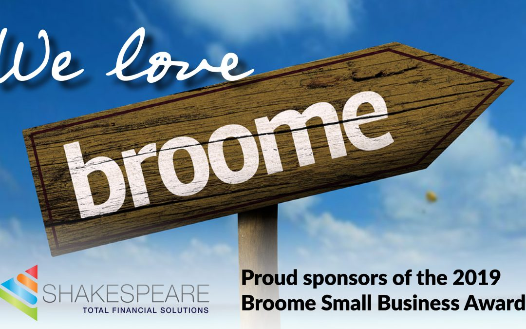 Shakespeare is sponsoring the Broome Small Business Awards